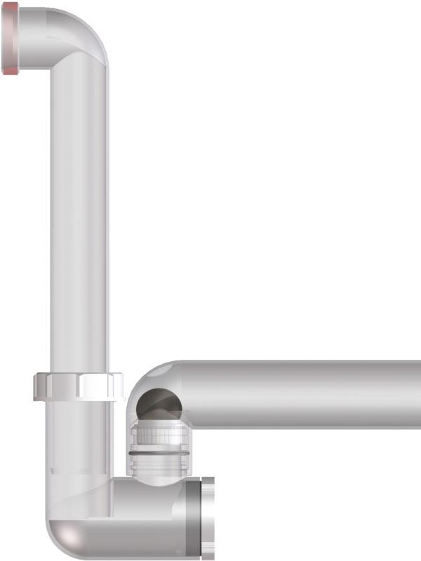 HL136NT Сифон DN40 для сброса дренажа от кондиционеров (образец) (шт.)