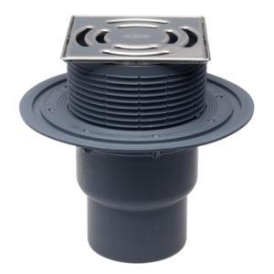 HL3100T Трап для внутр. помещений DN75/110 вертикальный с морозоустойчивым запахозапирающим клапаном (шт.)