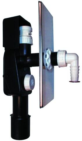 HL404.1 Сифон для стиральной и посудомоечной машины DN40/50 з вантузом 110х225мм (шт.)