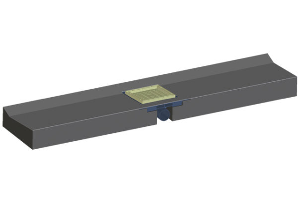 HL530F Монтажный блок-элемент 1200х256х115 мм с трапом DN50 (шт.)