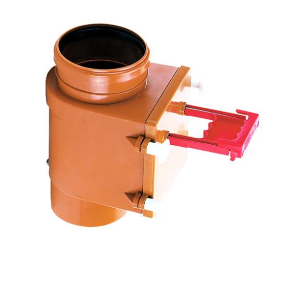 HL710.1V Канализационный клапан DN110 вертикальный с заслонкой из нержавеющей стали (шт.)