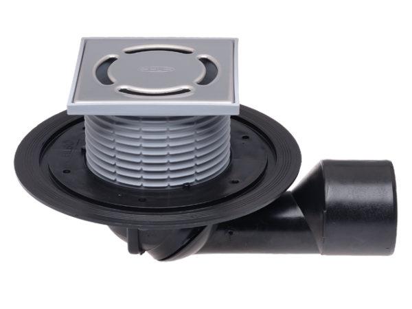 HL80.1 Трап DN50/75 для внутр. помещений, поворотный с запахозапирающим вкладышем, 123*123мм (шт.)